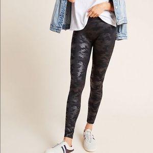 SPANX Faux Leather Camo Leggings Small